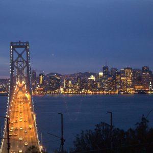 Oakland Bay Bridge looking at SF